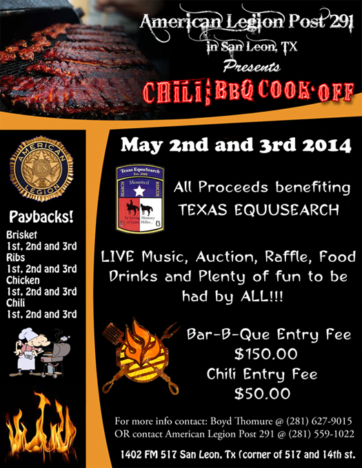 BBQ & Chili Cook-Off Fundraiser for TESm,